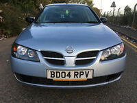2004 NISSAN ALMERA 1.5, LONG MOT 5DOORS SUPERB DRIVE/honda jazz/honda civic/ vw golf/ford fiesta//