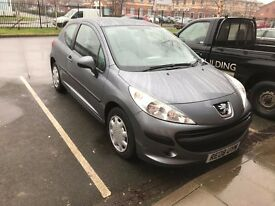 2008 Peugeot 207 1.4 cc ONLY 75,000 FROM NEW in excellent condition