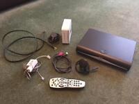 Sky+ HD Box, WiFi Router, Remote, and cables