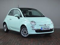 FIAT 500 1.2 LOUNGE [Pan Roof, Bluetooth] 3DR [START STOP] (green) 2014