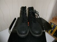 mens solemate black working boots size 12 brandnew