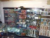 GLASS/MIRROR BACKED/ RETAIL CABINETS FOR SALE