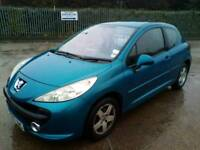 2007 07 peugeot 207 1.4 genuine 68k miles immaculate
