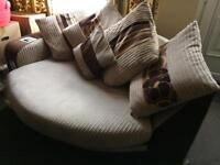 Half Moon Couch for Collection with Inbuilt phone Doc and Speaker