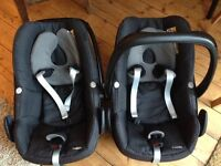 Maxi Cosi Pebble car seats. £45 each or £80 for the pair