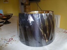 Black satin lampshade NEW - £5