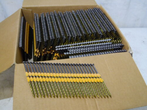 "New 1000 Pc 3"" X .120 21 Degree Plastic Strip Framing Nails Screw Shank True Fit"