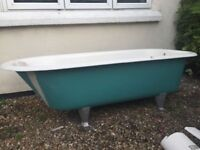 Beautiful original 1930s iron bathtub for sale