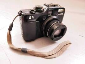 Barely used Canon PowerShot G11 (incl. 8GB SD card, charger + bag)