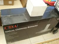BRAND NEW IN BOX CDA 100CM STAINLESS STEEL COOKER HOOD AND VENTING/DUCTING