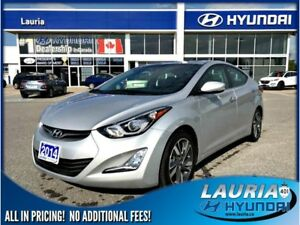 2014 Hyundai Elantra Limited - 1 owner - Navigation / Leather