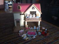Sylvanian families lakeside lodge bundle £40 ono
