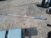 7 foot Olympic weight bar + plates