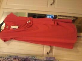 new peach dress by portrait -size 24