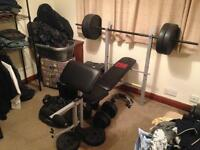 Weights bench and weights *reduced*
