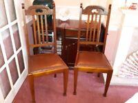 Era 1940's Dining chairs x 4