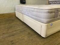 STAPLES KING SIZE BED BASE WITH DRAWS IN EXCELLENT CONDITION