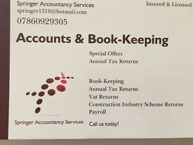 Self Assessments, Accounting, Book-Keeping, Payroll Services @ Low Rates