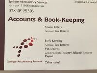 Tax Returns, Accounting, Book-Keeping, Vat Returns, Payroll Fantastic Offers