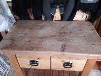 Solid wood kitchen island/butchers block
