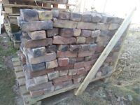 1950s clay house bricks reclaimed, vintage 600 in total