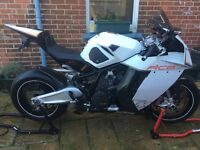 KTM RC8 in white and black