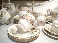 Colclough tea set - Hedgerow design