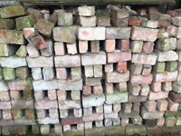 """100 reclaimed old red bricks approx 9.25"""" x 4.5"""" 600 available sold in lots of 100"""