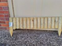 Log Edging for garden project for sale