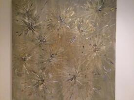 "Large original hand painted canvas:""Champagne """
