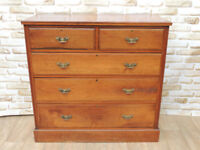 Large Chunky Vintage Chest of Drawers Brown (Delivery)