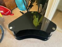 Black glass and chrome 3 level TV stand - £40 ono