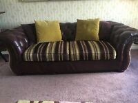 3seat Chesterfield style sofa and armchair