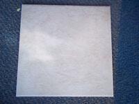 Floor Tiles x 13 (30cms x 30cms) Light Beige / Cream Textured - Garage Clearout