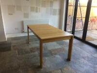 Marks and Spencer Solid Oak Extending 6-10 Seater Dining Table (and Habitat Chairs sold separately)