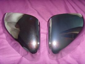 NEW BOXED GENUINE JAGAUR XF XJ X TYPE CHROME SIDE WING MIRROR CAP COVERS