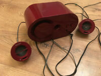 Red Sony Speakers