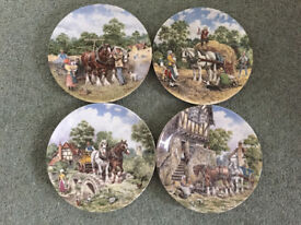SET OF 4 WEDGEWOOD 'LIFE ON THE FARM' series PLATES - LIMITED EDITION