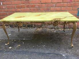 Table with bronze legs! Free delivery