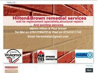 Building services pointing cavity wall ties structural repairs property maintenance
