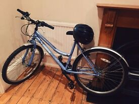Womens bike for sale with helmet and lock