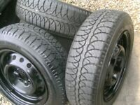 set 4, AS NEW,8MM TREAD,GOODYEAR GT 175/65/14 TYRES,ON SET MG TF AS NEW WHEELS