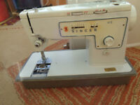 Delta lightweight sewing machine and 1 Singer 413 for parts including a Singer electric foot pedal