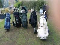 Golf club sets including Bags