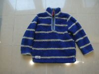 DESIGNER RUGBY FLEECE BY TOM JOULE AGE 5
