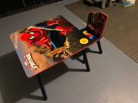 Kids Spider-Man table and chair