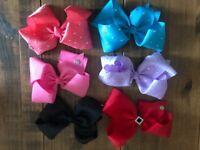 Selling bundle of 6 jojo girls hair bows for £20