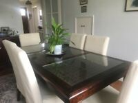 Rosewood Dining Table & 6 chairs