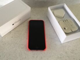 Apple iPhone 6 128GB in original box, charger & headphones unused, and Apple (RED) cover.
