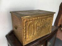 Vintage Brass Box inside Wood Gorgeous
